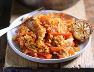 Golden Chicken with Spanish Rice & Caramelised Lemon