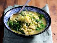 Curried Sprout & Brown Rice Soup