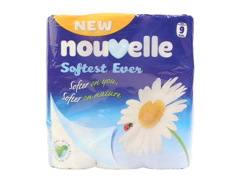 Toilet Tissue, Nouvelle (pack of 9)