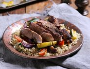 Shawarma Spiced Lamb with Roast Veg & Herby Couscous