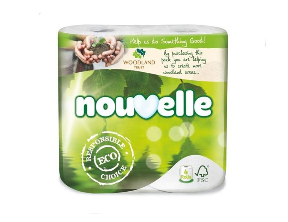 Toilet Tissue, Nouvelle (pack of 4)