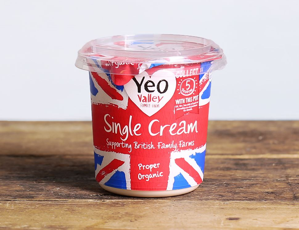 Single Cream, Organic, Yeo Valley (227g)