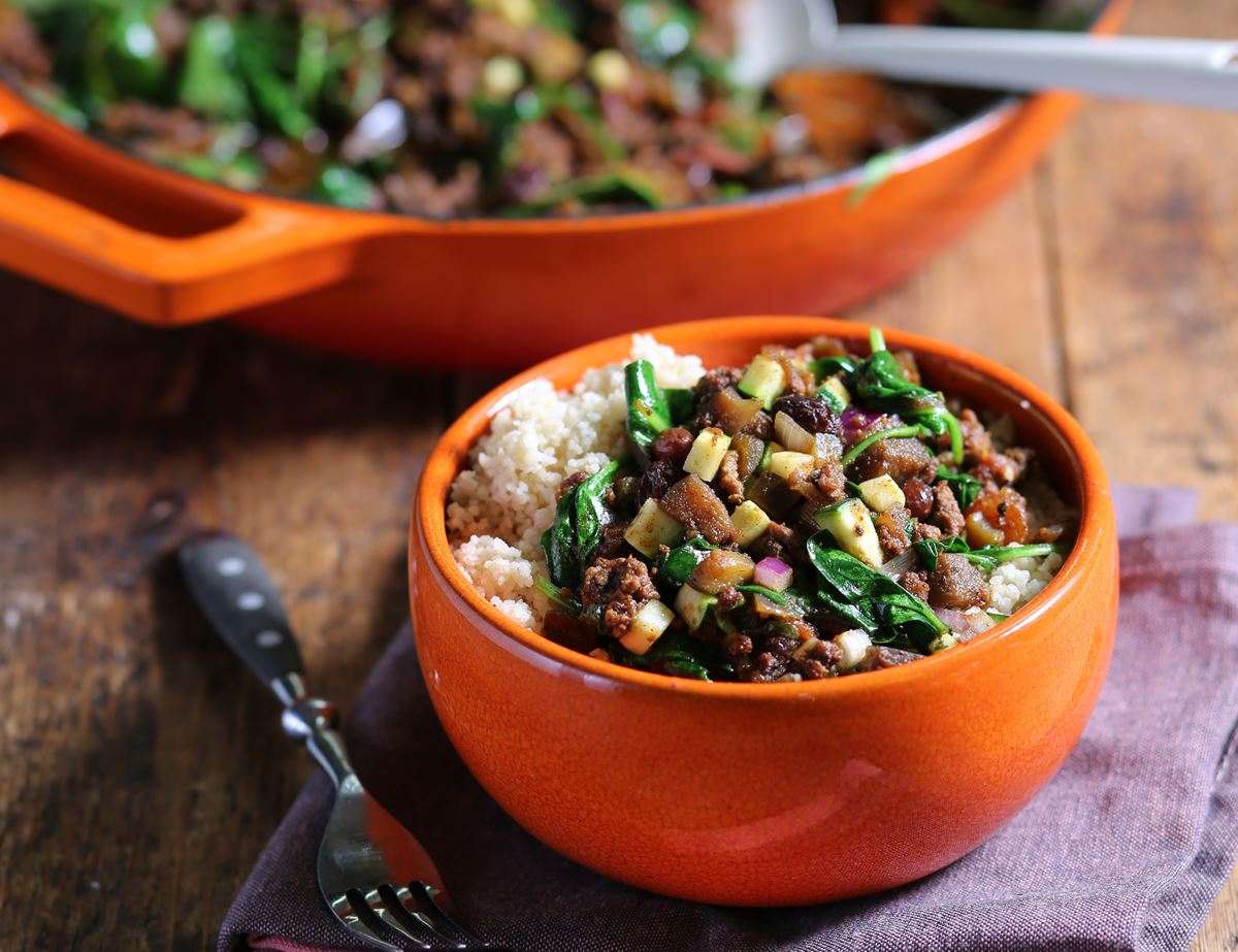 Slow Cooked Turkish Spiced Lamb Mince with Couscous