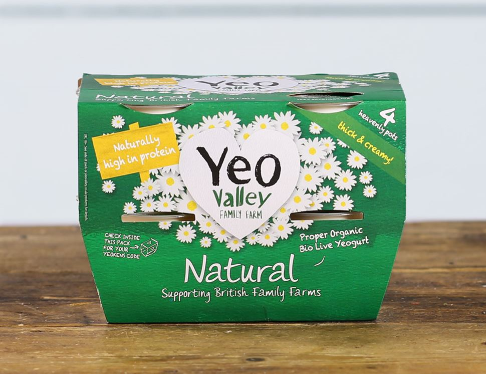 Natural Yogurt, Organic, Yeo Valley (4 x 120g)