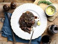 Rosemary-Rubbed Steak with Horseradish Aioli
