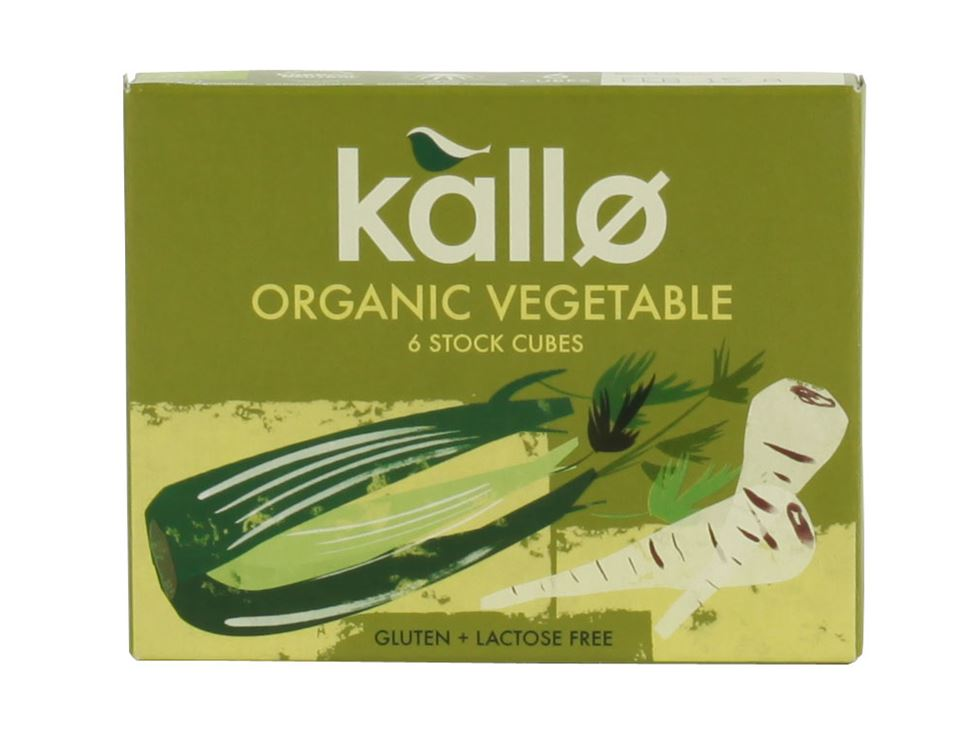 Vegetable Stock Cubes, Organic, Kallo (66g)
