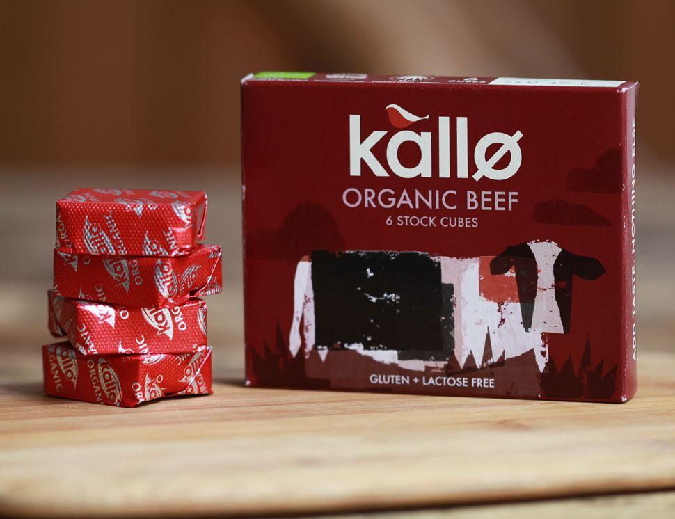 Beef Stock Cubes Organic Kallo 66g Abel Amp Cole