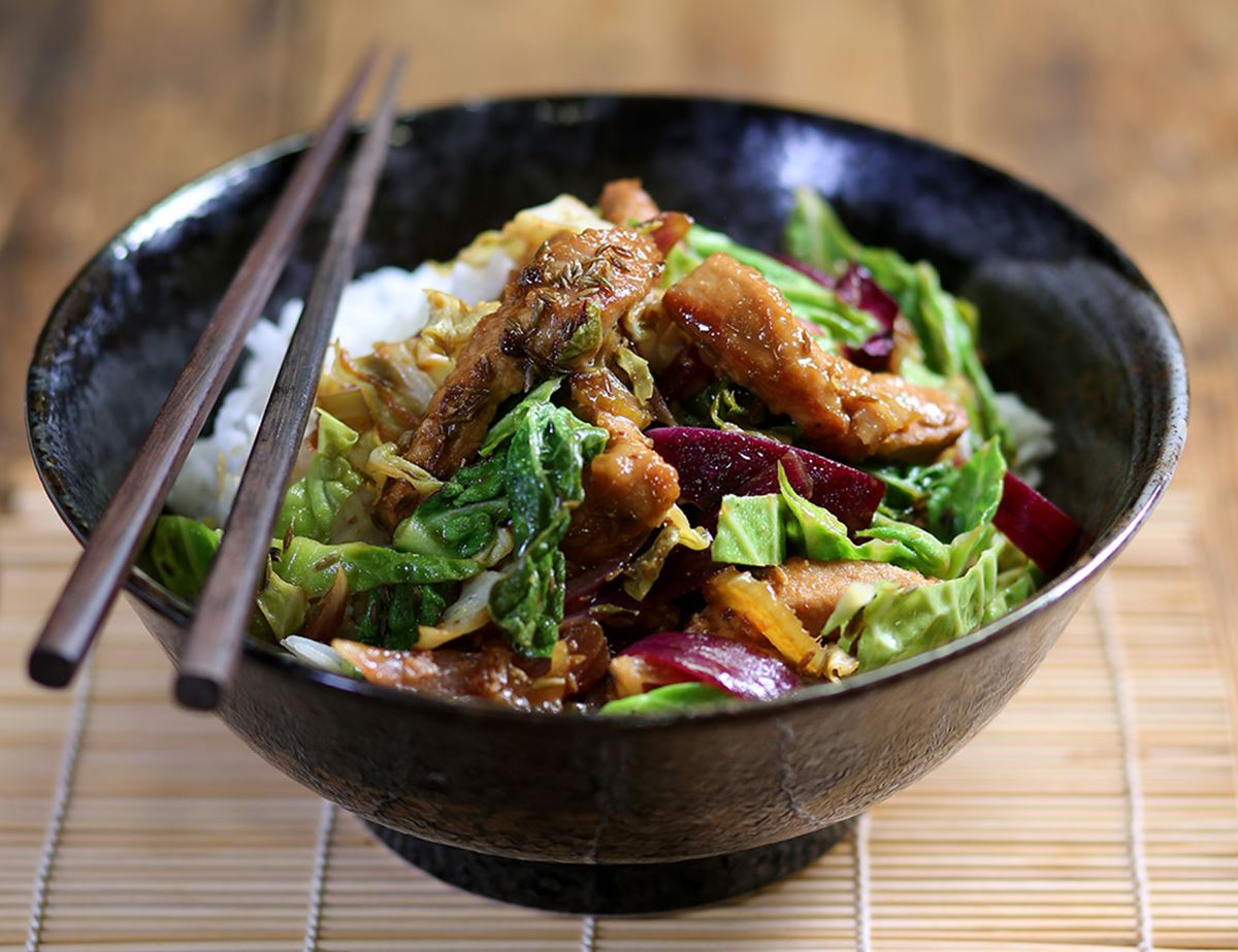 Speedy Pork Stir-Fry with Cumin & Coriander