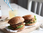 Curried Carrot Veggie Burgers