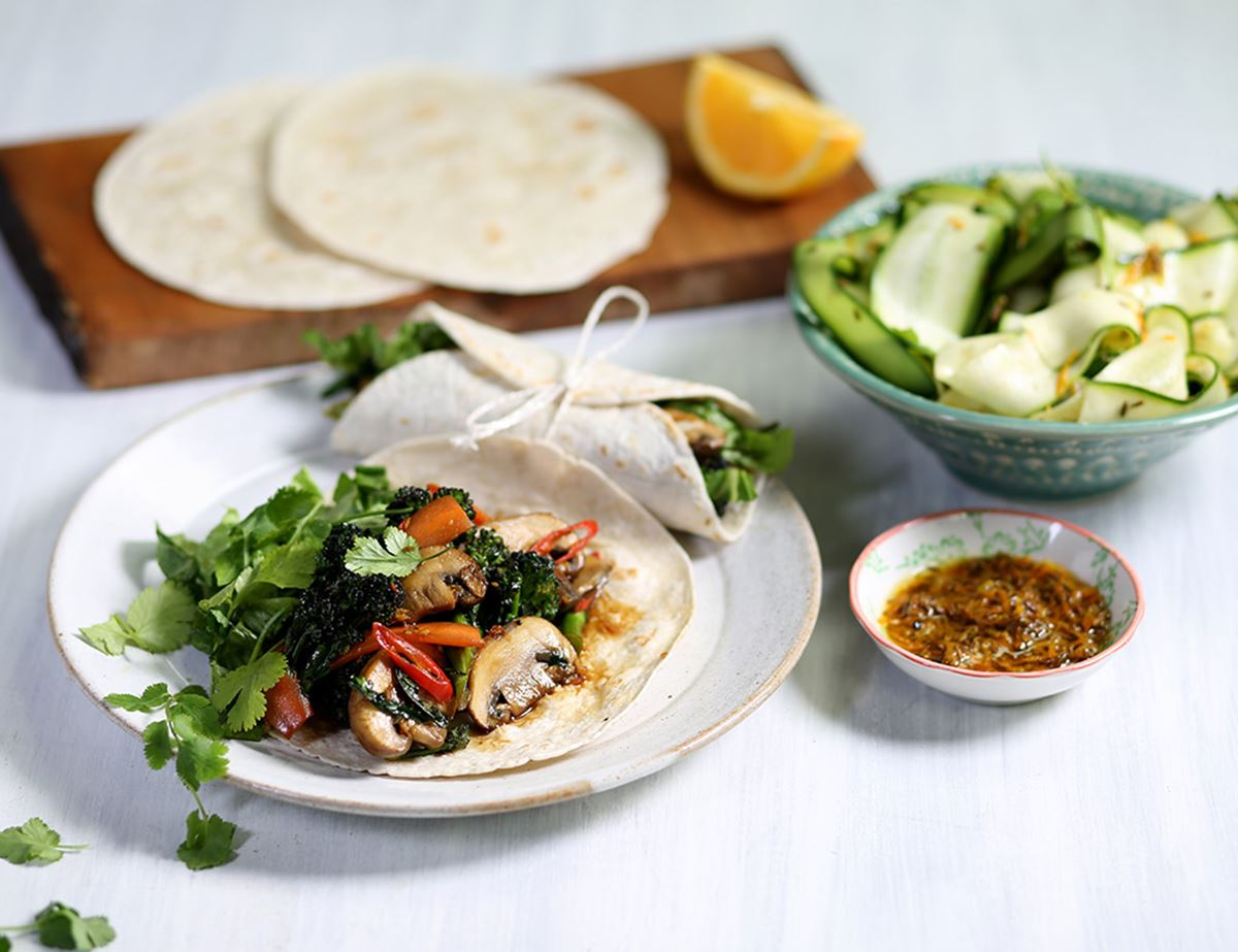 Teriyaki Glazed Vegetable Wraps