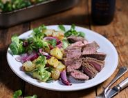 Mountain Herb Lamb Steaks with Roast Potato Salad