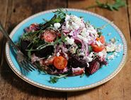 Roasted Baby Beet, Bergamot & Bulgar Salad