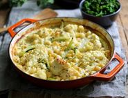 Golden Cauliflower Mac & Cheese