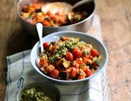Ratatouille with White Beans & Parsley Pistou