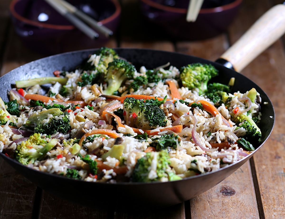 Mushroom, Broccoli & Kale Fried Rice