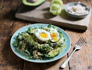 Avocado & Quinoa Salad with Soft Boiled Eggs