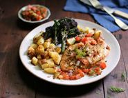 Roast Chicken with Dill & Tomato Salsa