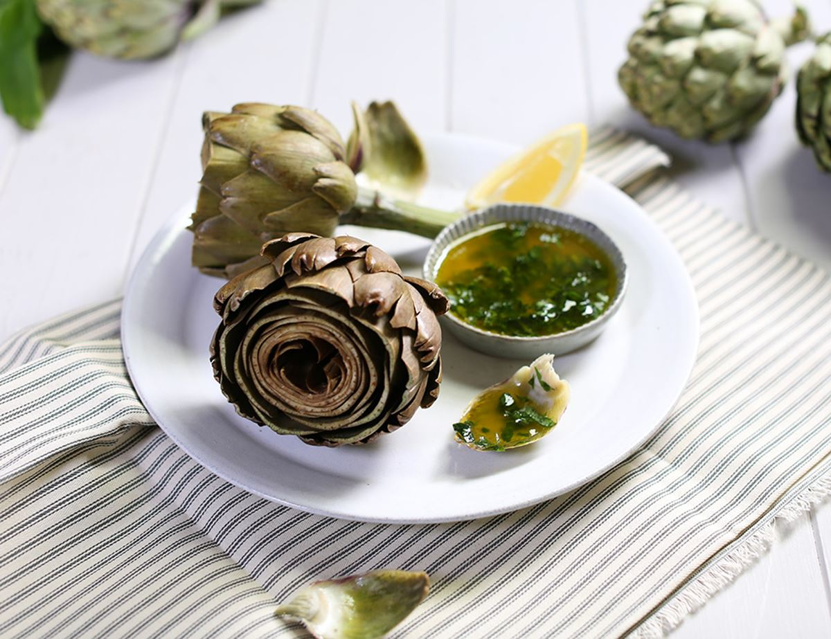 Speedy Steamed Globes with Wild Garlic Butter