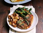 Speedy Sage & Butter Pork Chops with Roast Potatoes