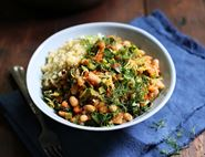 Greek Beans & Greens with Bulgar Wheat