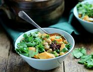 Sweet Potato, Chickpea & Peanut Curry with Thai Green Spices
