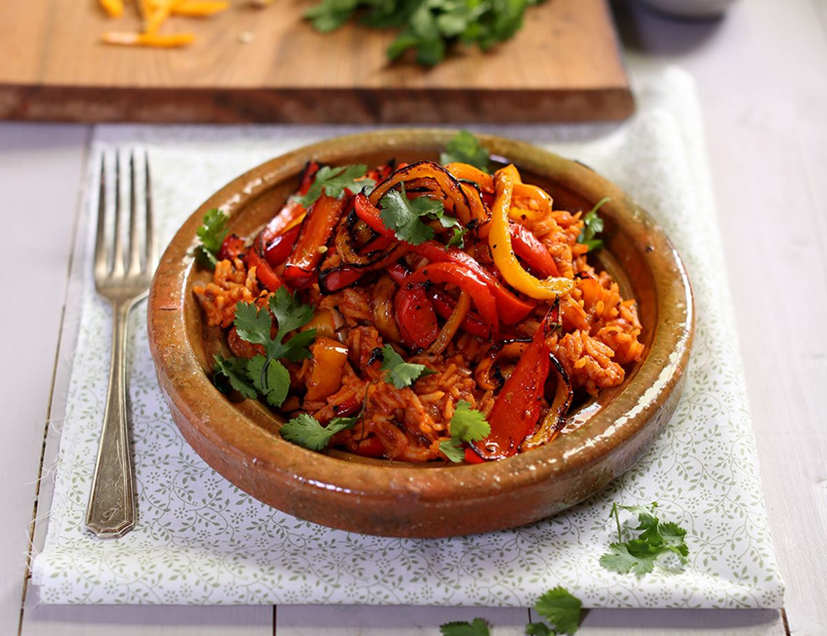 Smoky Grilled Pepper & Chilli Rice