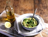 Wild Garlic Chickpea Mash