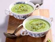 Fresh Lettuce, Cucumber & Spring Onion Soup