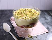 Rhubarb, Ginger & Custard Trifle