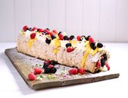 Lemon & Elderflower Meringue Roulade