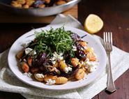 Pink Pan Fried Gnocchi with Beets & Feta