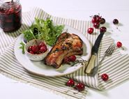 Pork Loin Chops with Pickled Balsamic Cherries