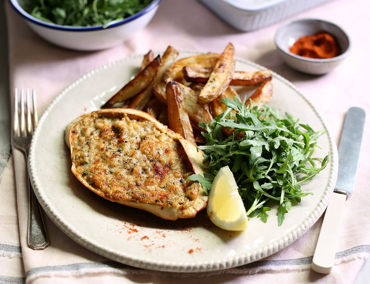 Parmesan Potted Crab & Chips