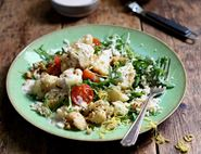 Pan-Roasted Cauliflower with Dukkah & Couscous