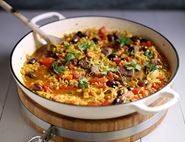 Saffron Lamb Stew with Olives & Barley