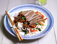 Minute Steaks with Sweet Tamari Sauce & Rice Noodles