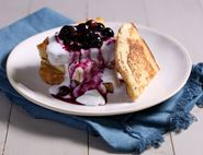 Vegan French Toast with Blueberry Sauce