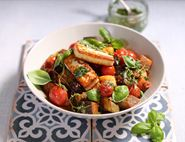 Ratatouille with Lentils & Golden Halloumi