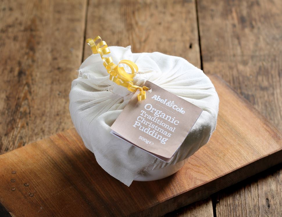 Traditional Christmas Pudding, in Ceramic Bowl, Organic, Abel & Cole (500g)