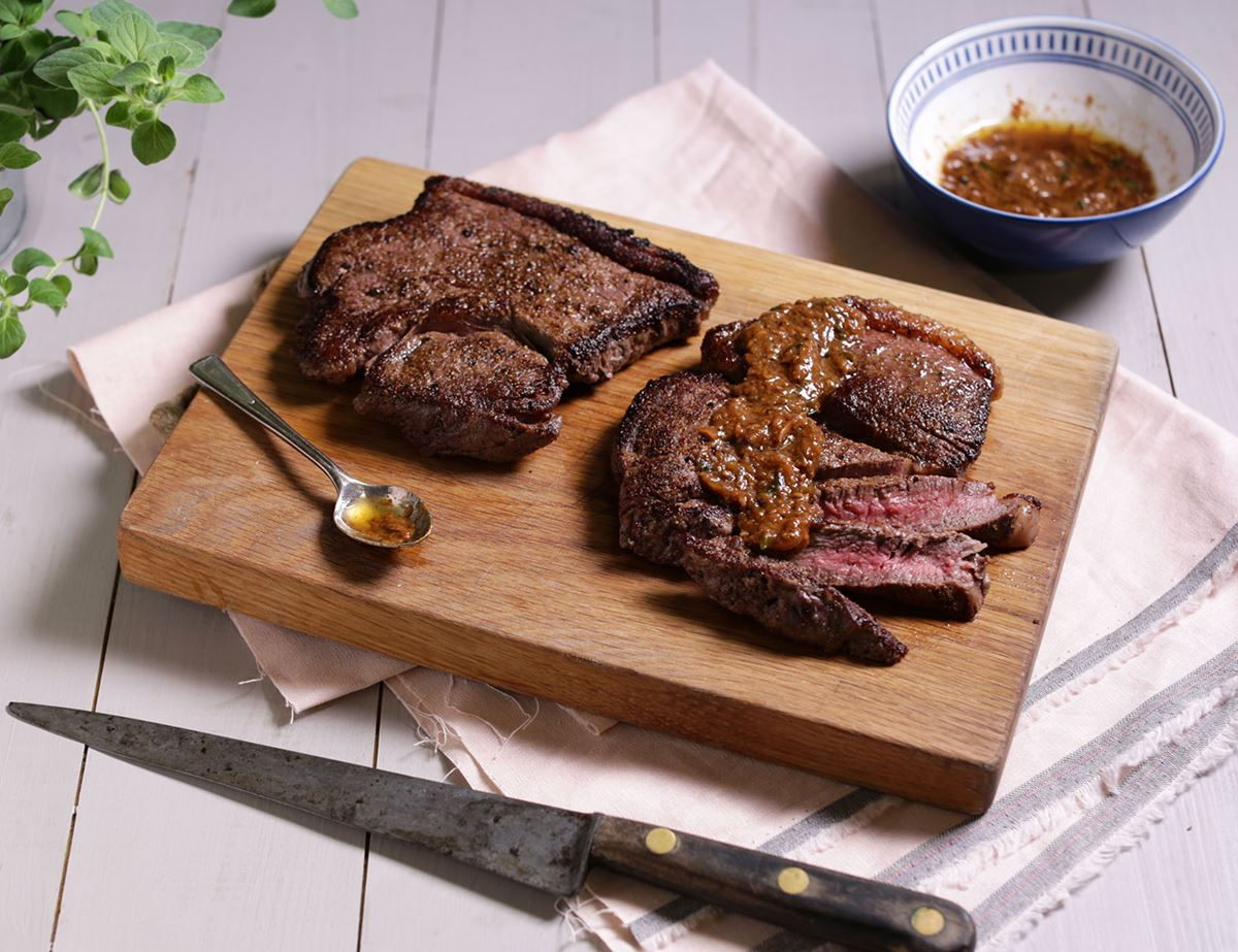 Rump Steak with Ginger Miso Butter