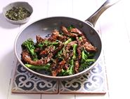 Sticky Honey & Sesame Pork with Tenderstem