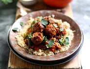 Lamb Meatballs with Smoky Tomato Sauce & Couscous