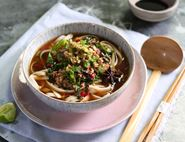 Slow Cooked Miso Pork Udon Bowl