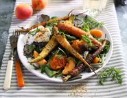 Fresh Apricot & Spice Roasted Carrot Salad