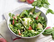 Flat Peach, Avocado & Mozzarella Salad