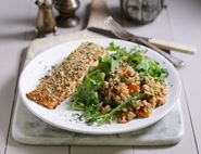 Dukkah Crusted Salmon with Herby Couscous