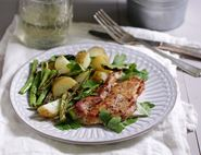 Cajun Pork Escalopes with Charred French Beans