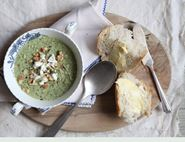 Broccoli, Feta and Walnut Soup