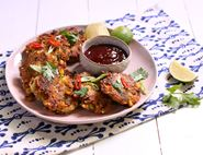 Crab, Corn & Coconut Fritters with Chilli Jam