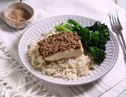 Sesame Hake with Coconut Rice & Tenderstem® Broccoli